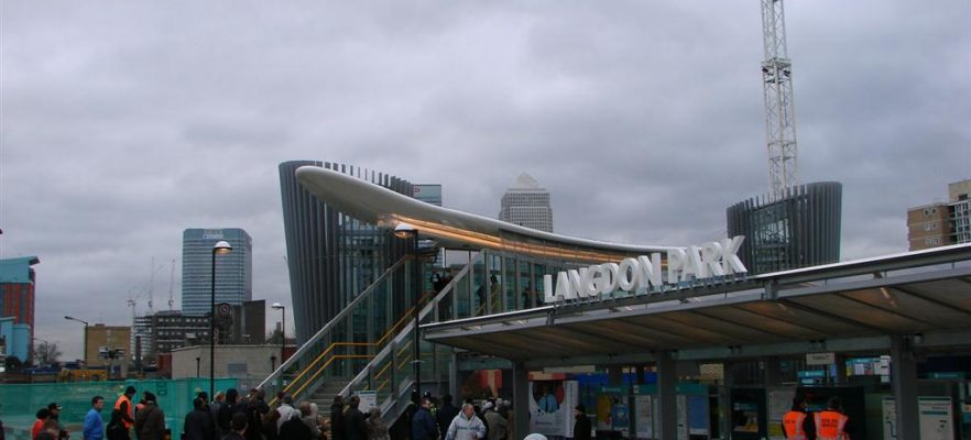 Langdon Park Station AMS engineered and built a FRP roof canopy for Langdon Park Station on the DLR