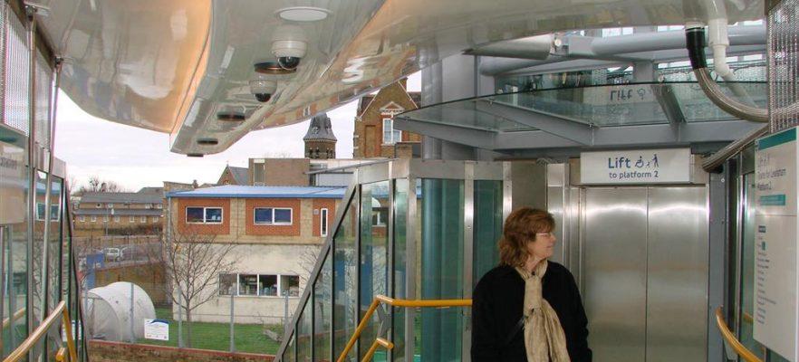 Langdon Park Station Underside of canopy