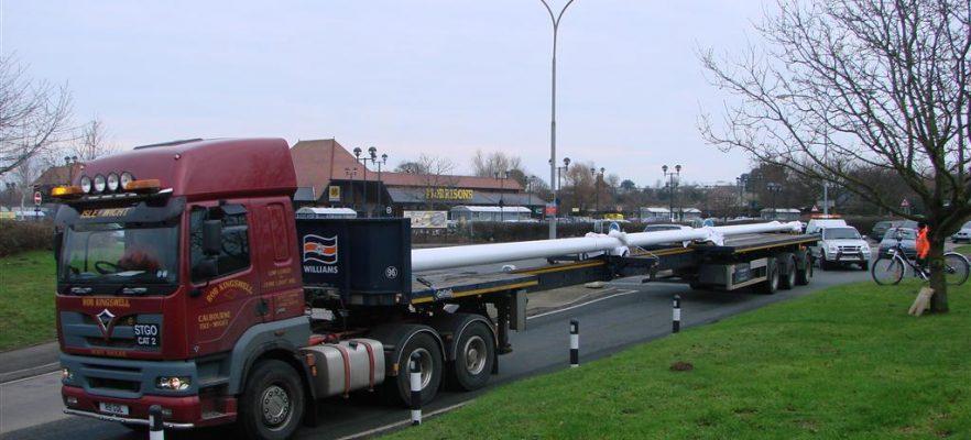 Poole Harbour Bridge AMS manufactured the two 26 metre carbon fibre lighting masts for Poole Twin Sails bridge