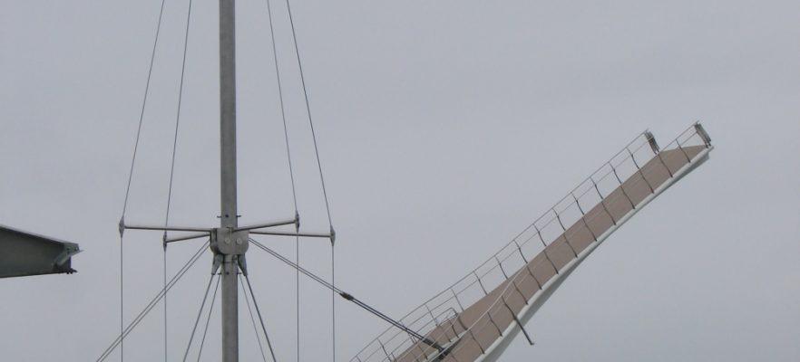 Foryd Bridge Deck showing the surface non slip finish