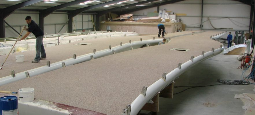 Foryd Bridge Final completion at factory prior to shipping to site