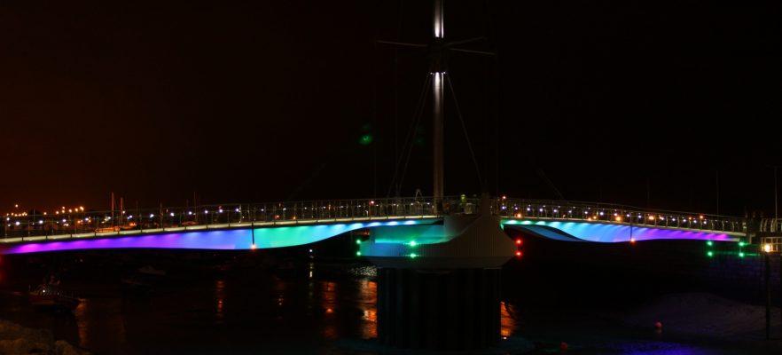 Foryd Bridge Lighting 1st Test