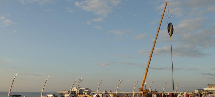 Dune Grass Blackpool Installation on Blackpool seafront